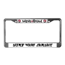 Surf New Jersey License Plate Frame