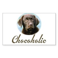 Chocoholic Rectangle Decal