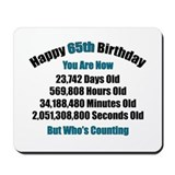 65th birthday Classic Mousepad