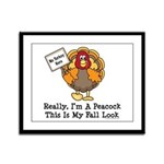 No Turkey Here Thanksgiving Framed Panel Print