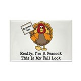 No Turkey Here Thanksgiving Rectangle Magnet