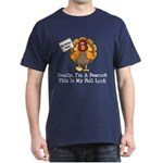 No Turkey Here Thanksgiving Dark T-Shirt