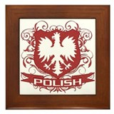 Polish Eagle Crest Framed Tile