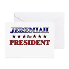JEREMIAH for president Greeting Cards (Pk of 20)
