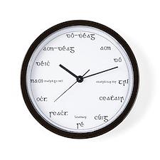 Gaeilge Wall Clock