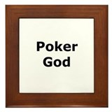 Poker God Framed Tile