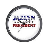 JAZLYN for president Wall Clock