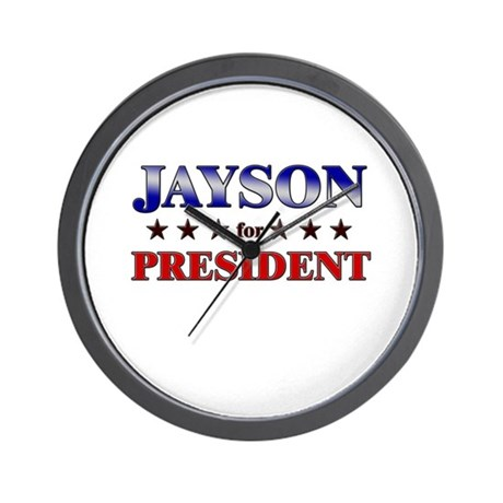 JAYSON for president Wall Clock
