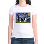 Starry Night & Bos Ter Jr. Ringer T-Shirt