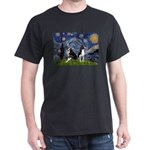 Starry Night & Bos Ter Dark T-Shirt