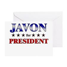 JAVON for president Greeting Card