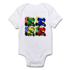 Marilyn Sprints Primary Onesie