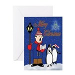 Masonic Penguins Greeting Card