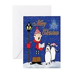Masonic Penguins Greeting Card