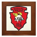 Wichita Police Motors Framed Tile