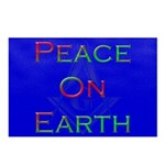 Masonic Peace on Earth Xmas Postcards (Package of