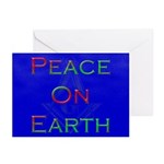 Masonic Peace on Earth Xmas Greeting Cards (Pk of