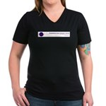 Women's V-Neck Dark T-Shirt