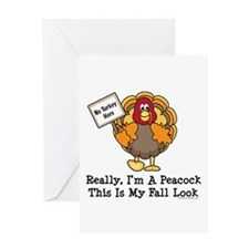 No Turkey Here Thanksgiving Greeting Card