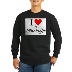 I Love My Ethologist Long Sleeve Dark T-Shirt