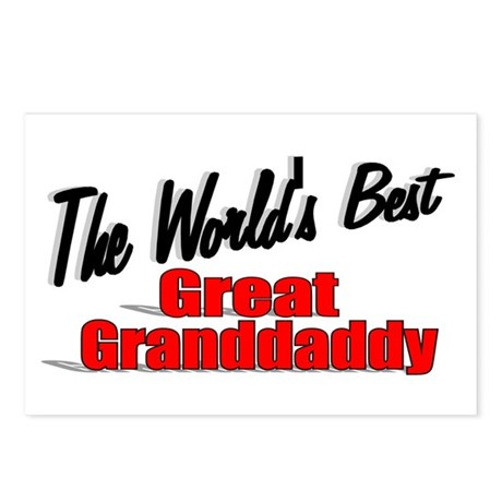 """The World's Best Great Grandaddy"" Postcards (Pack"