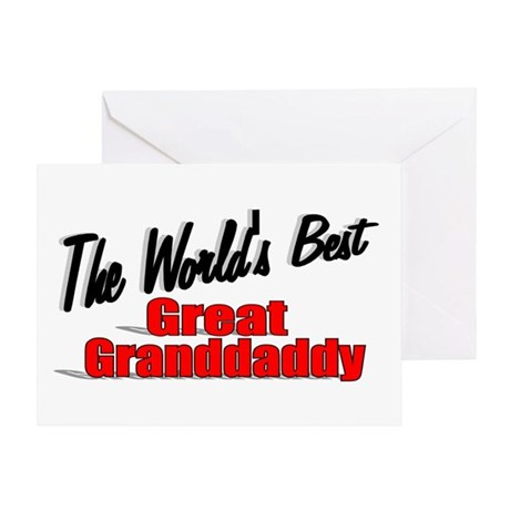 """The World's Best Great Grandaddy"" Greeting Card"