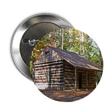 "Log Cabin In The Woods 2.25"" Button"