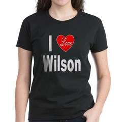 I Love Wilson (Front) Women's Dark T-Shirt
