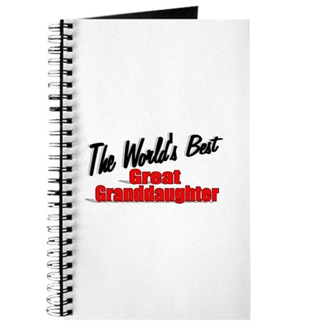"""The World's Best Great Granddaughter"" Journal"