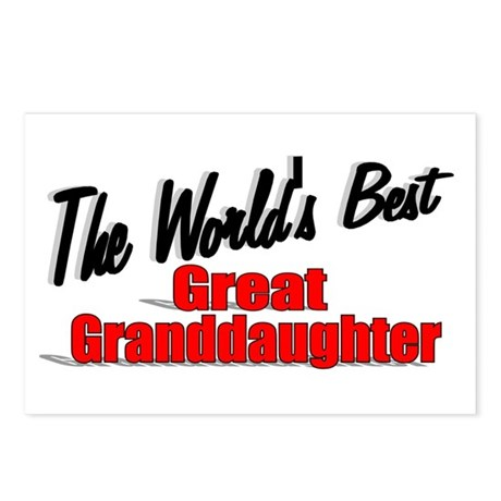 """The World's Best Great Granddaughter"" Postcards ("