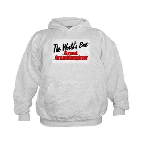 """The World's Best Great Granddaughter"" Kids Hoodie"