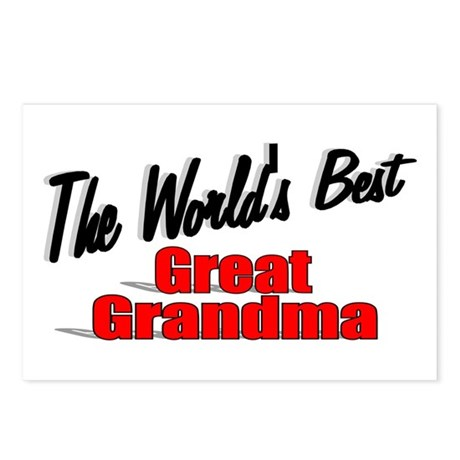 """The World's Best Great Grandma"" Postcards (Packag"