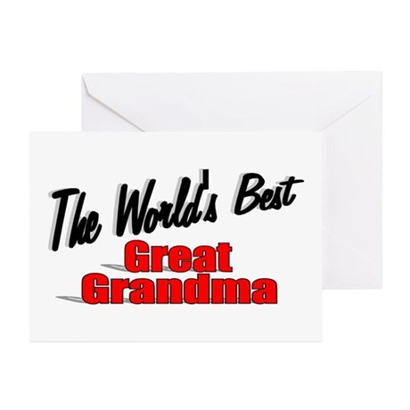 """The World's Best Great Grandma"" Greeting Cards (P"