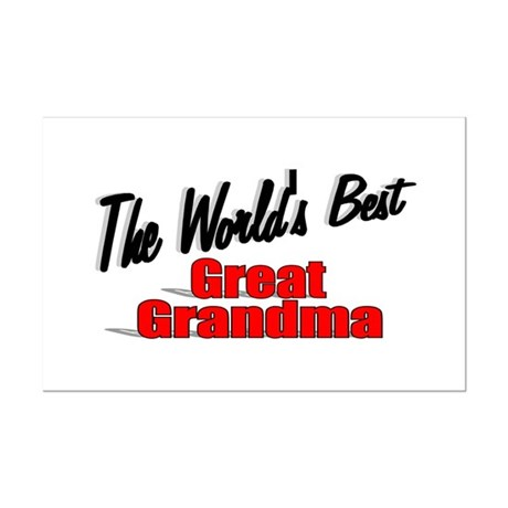 """The World's Best Great Grandma"" Mini Poster Print"
