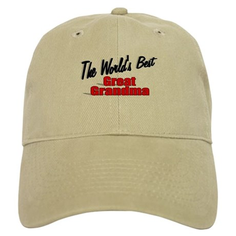 """The World's Best Great Grandma"" Cap"