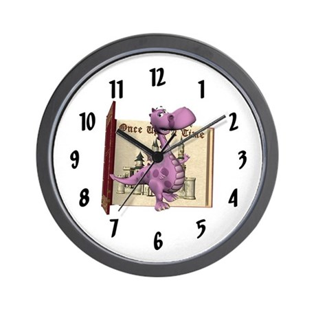 Dusty Dragon Wall Clock