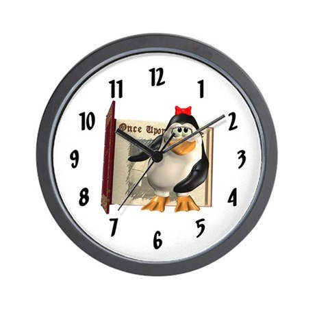 Penny Penguin Wall Clock