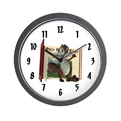 Nickie Squirrel Wall Clock