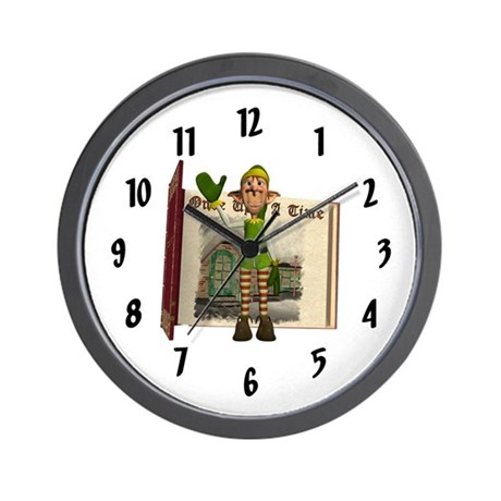 Santa's Elf Wall Clock