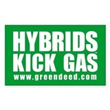 """Hybrids Kick Gas"" Rectangle Decal"