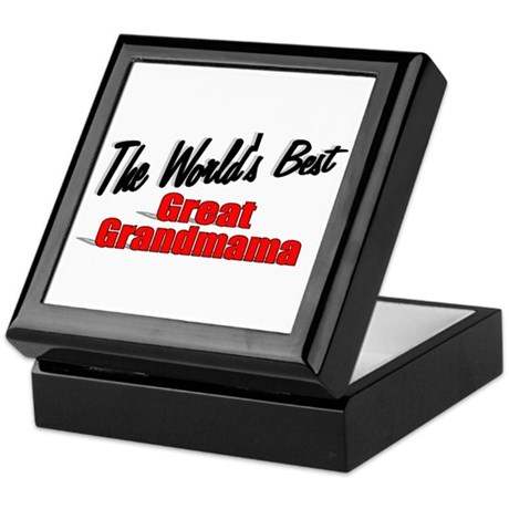 """The World's Best Great Grandmama"" Keepsake Box"