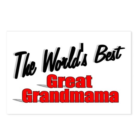 """The World's Best Great Grandmama"" Postcards (Pack"