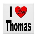 I Love Thomas Tile Coaster