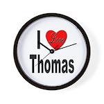 I Love Thomas Wall Clock