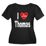 I Love Thomas (Front) Women's Plus Size Scoop Neck