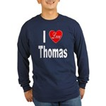 I Love Thomas (Front) Long Sleeve Dark T-Shirt