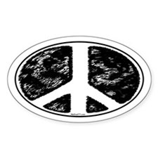 Peace 6 Oval Decal