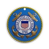 US Coast Guard Ornament (Round)