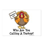 No Turkey Here Thanksgiving Postcards (Package of