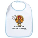 No Turkey Here Thanksgiving Bib